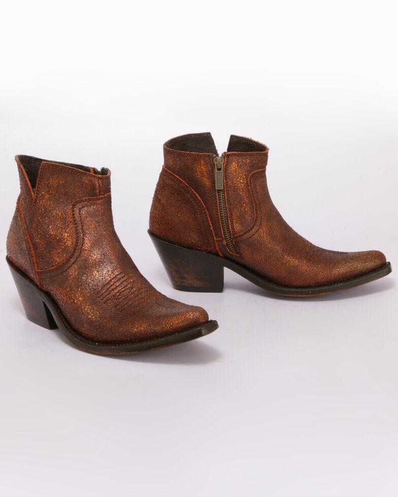 Liberty Black Women's Parris Copre Western Booties - Pointed Toe, Brown, hi-res