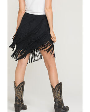 Idyllwind Women's Spellbound Fringe Skirt, Black, hi-res