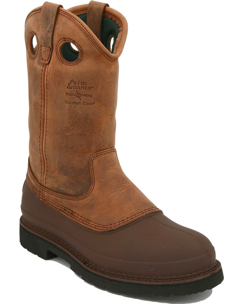 Georgia Mud Dog Pull-On Work Boots, Tan, hi-res