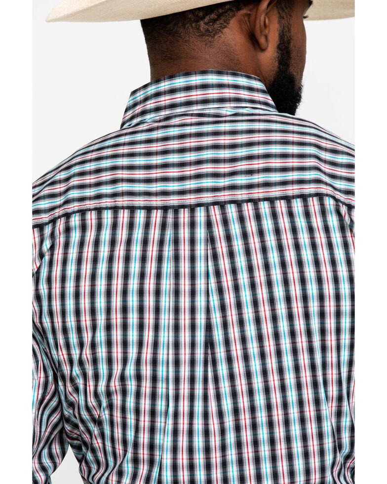 Wrangler 20X Men's Black Plaid Performance Long Sleeve Western Shirt , Black, hi-res