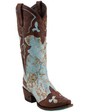 Lane Women's Masquerade Boots - Snip Toe , Turquoise, hi-res