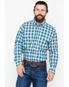 3f2fa1f0afd Cinch Men s Small Plaid Logo Pocket Long Sleeve Western Shirt