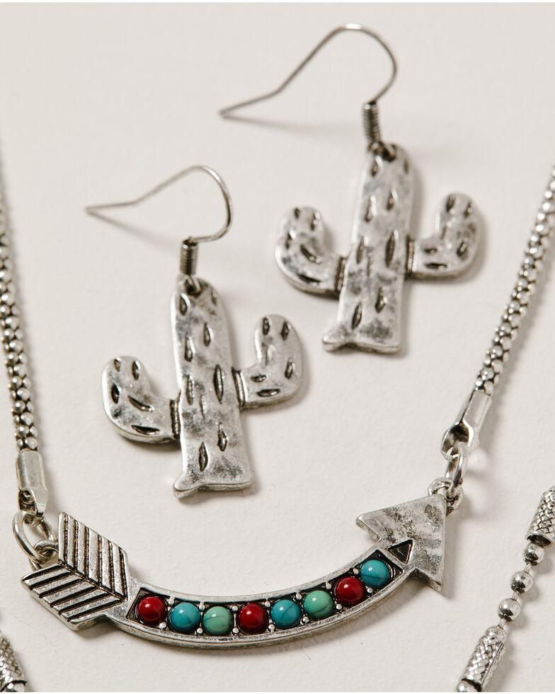 Shyanne Women's Wild Soul Layered Multi Charm Jewelry Set, Silver, hi-res