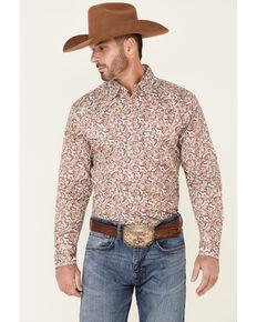 Wrangler 20X Men's Multi Paisley Print Long Sleeve Snap Western Shirt , Multi, hi-res