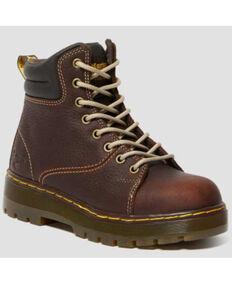 Dr. Martens Gilbreth Work Boots - Steel Toe, Dark Brown, hi-res