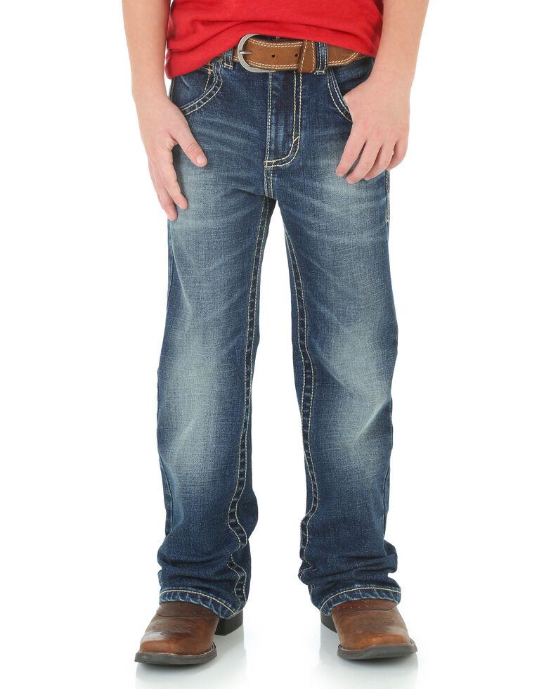 Wrangler 20X Boys' No. 42 Vintage Bootcut Jeans, Blue, hi-res