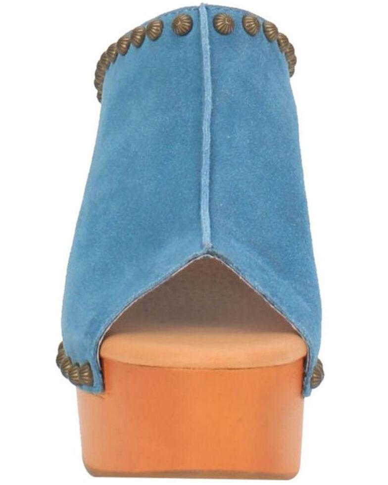 Dingo Women's Peace N' Love Clogs, Blue, hi-res