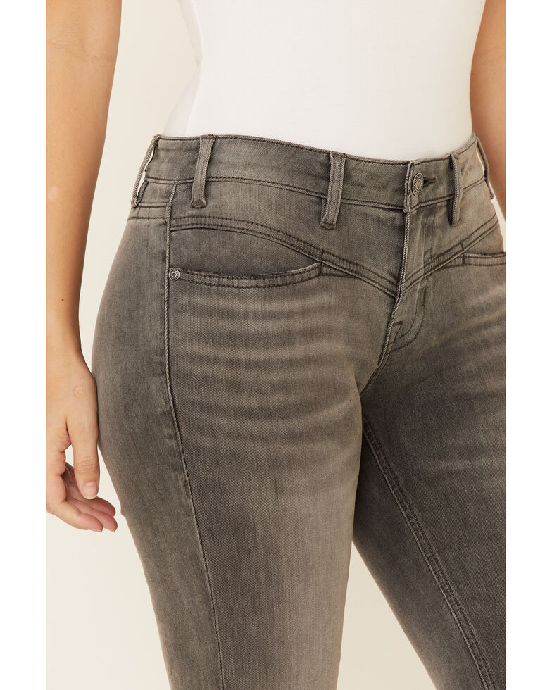 Rock & Roll Denim Women's Grey Wash Mid-Rise Bootcut Jeans, Grey, hi-res