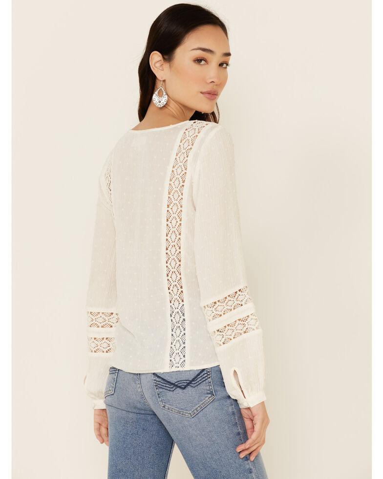 Idyllwind Women's Western Romance Long Sleeve Top , Ivory, hi-res