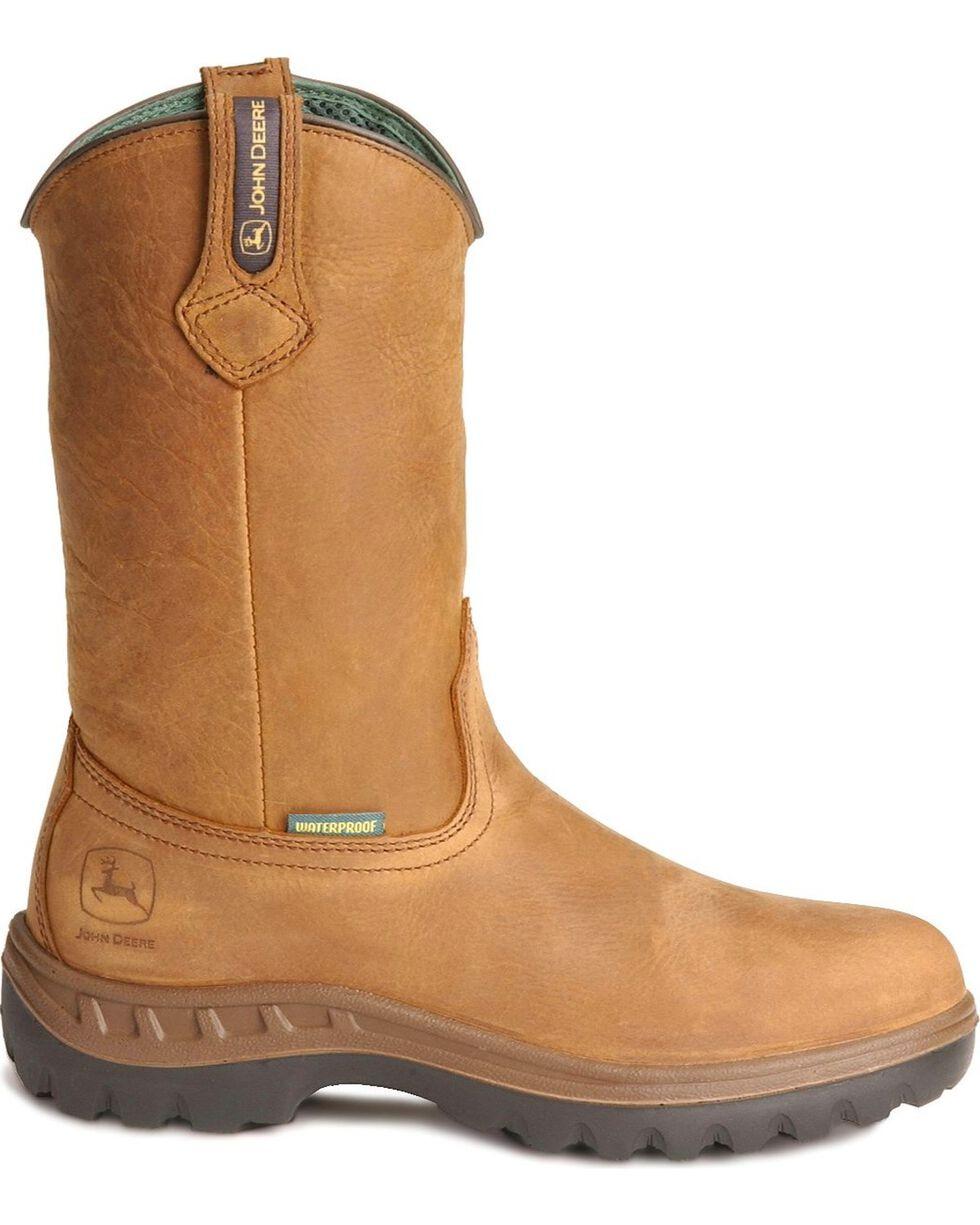 John Deere WCT Waterproof Wellington Work Boots, Tan, hi-res