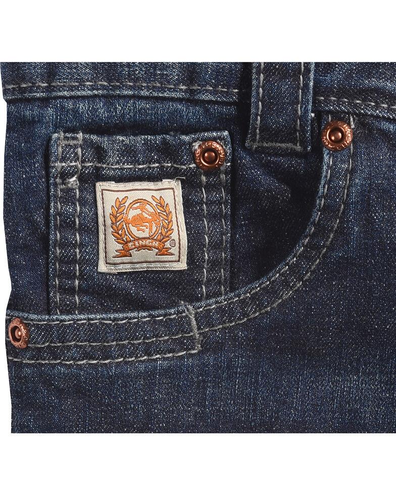 Cinch Boys' Carter Dark Wash Slim/Regular Fit Bootcut Jeans (4-7), Blue, hi-res