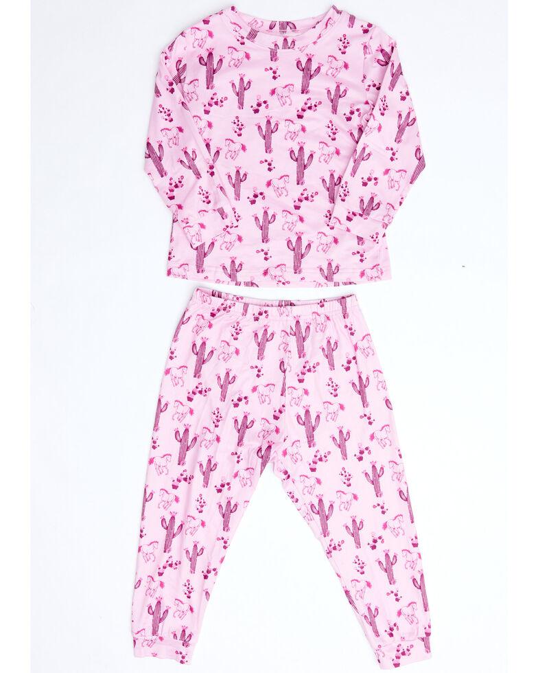 Cowgirl Hardware Infant Girls Horses Cacti Print Playset , Pink, hi-res