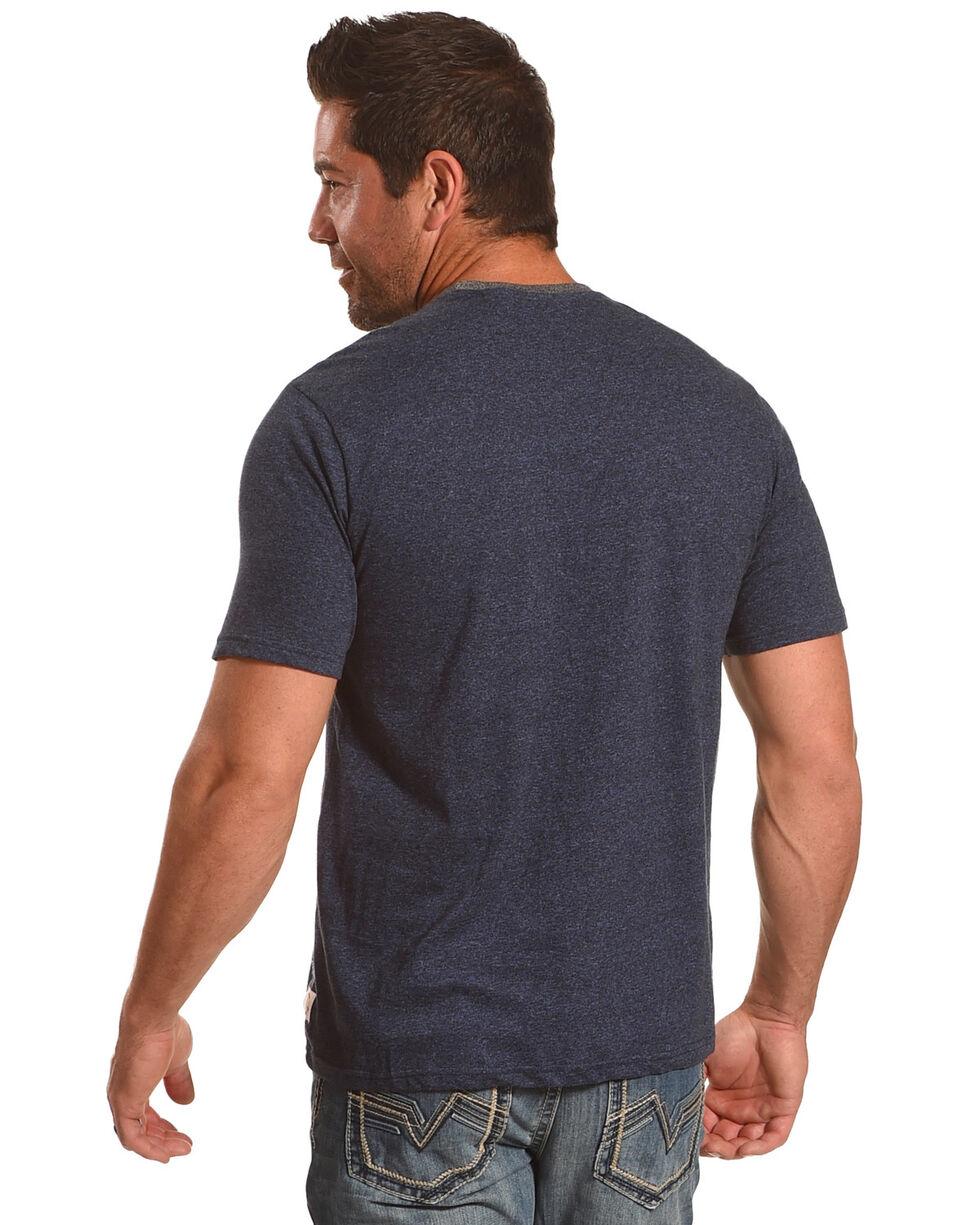 American Republic Men's Blue Star Americana T-Shirt , Blue, hi-res