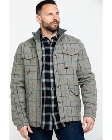 Powder River Outfitters Men's Heather Plaid Coat , Grey, hi-res