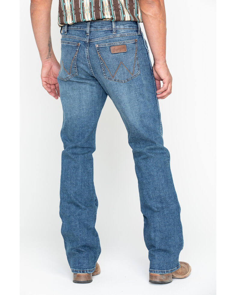 Wrangler Retro Men's Panola Long Relaxed Boot Jeans , Blue, hi-res