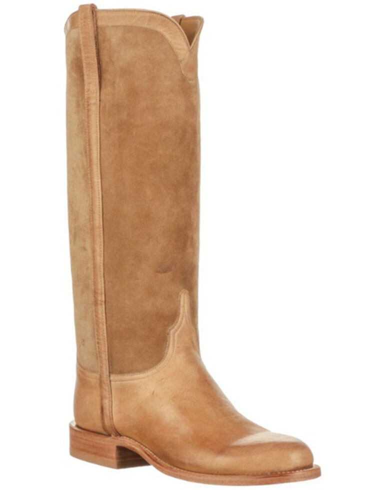 Lucchese Women's Dora Western Boots - Round Toe, Tan, hi-res