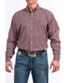 Cinch Men's Multi Color Geo Print Button Long Sleeve Western Shirt , Multi, hi-res