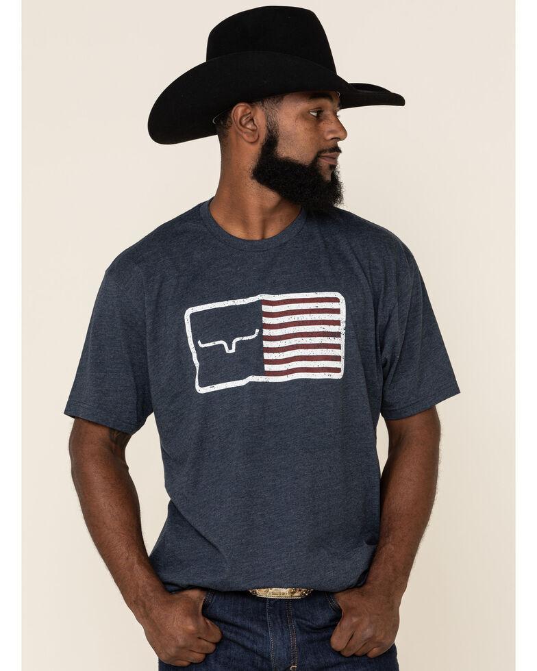 Kimes Ranch Men's Navy American Trucker Graphic T-Shirt , Navy, hi-res