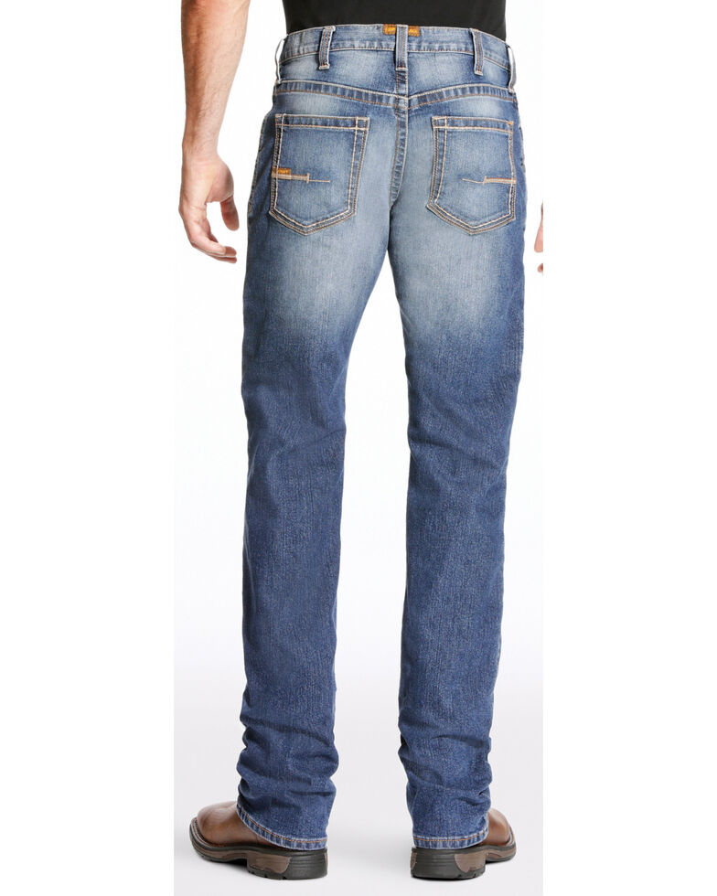 Ariat Men's Rebar M4 Edge Boot Work Jeans, Indigo, hi-res