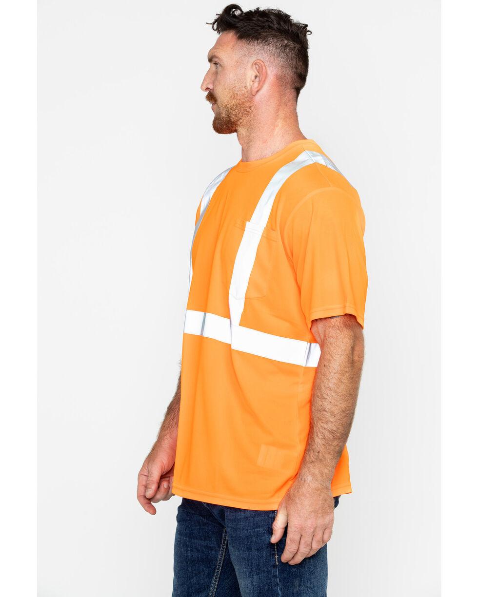 Hawx® Men's Short Sleeve Reflective Work Tee - Big & Tall, Orange, hi-res