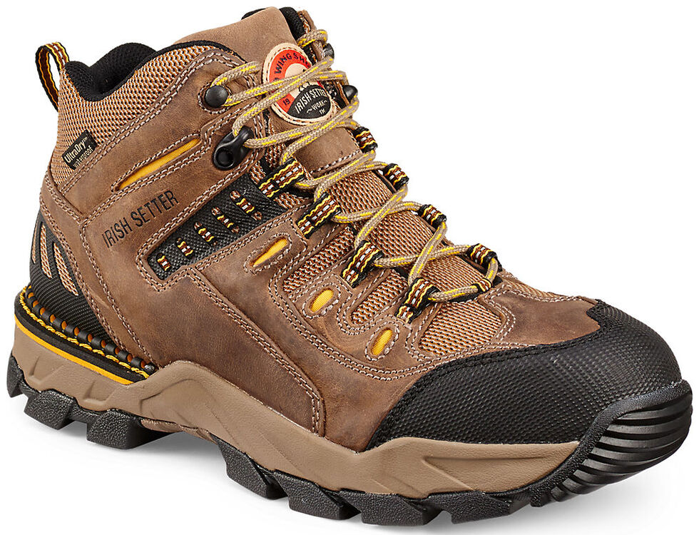 Irish Setter by Red Wing Shoes Men's Two Hrbors Waterproof Hiker Work Boots - Aluminum Toe  , Brown, hi-res