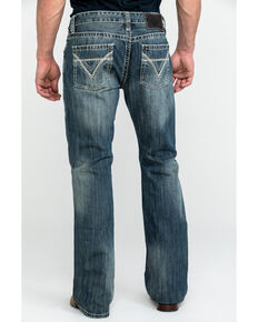 Rock & Roll Cowboy Men's Pistol Med Slim Boot Jeans , Blue, hi-res
