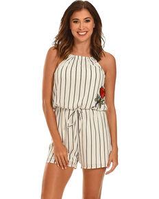 62c686382745 Ces Femme Women s Striped Halter Top Romper