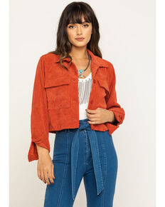 Eyeshadow Women's Rust Crop Jacket , Rust Copper, hi-res