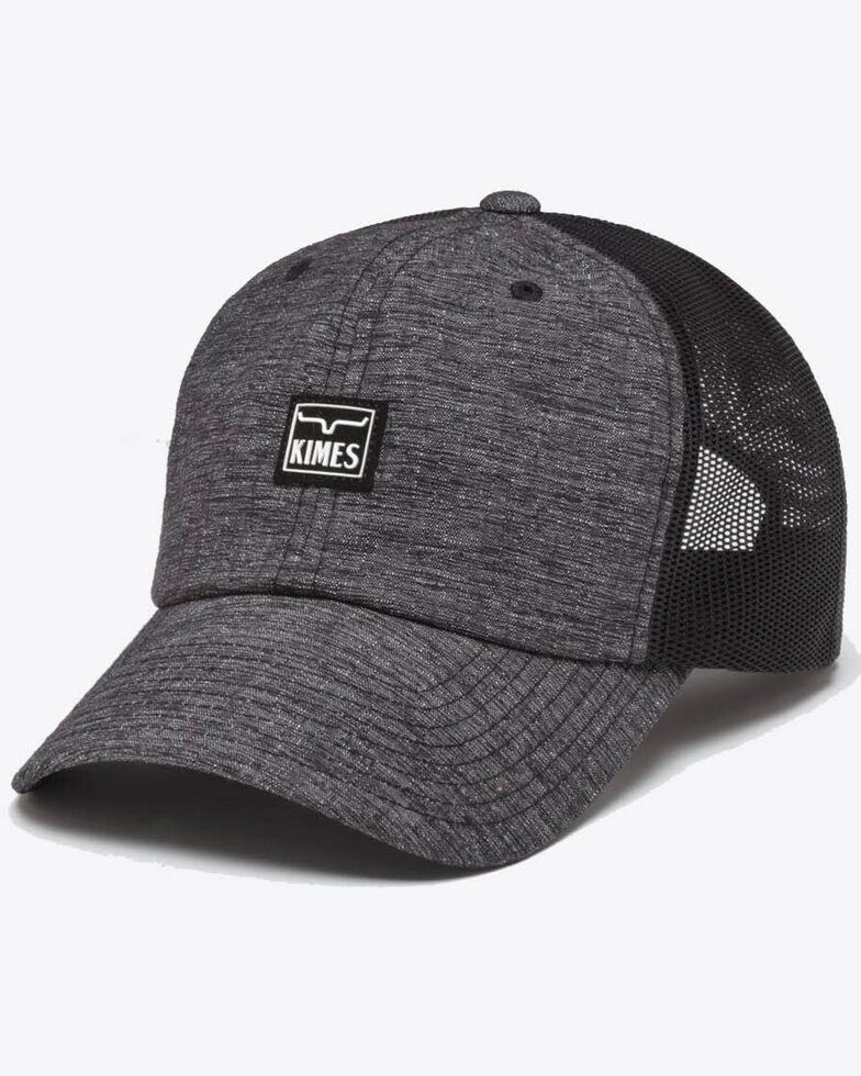 Kimes Ranch Black Stratch Branded Mesh Trucker Cap, Black, hi-res