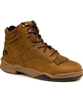 Roper Men's Honey Bun Brown HorseShoes Classic Original Boots, Brown, hi-res