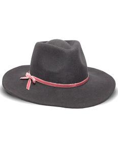 Nikki Beach Women's Riley Velvet Bow Band Wool Felt Western Hat, Mauve, hi-res