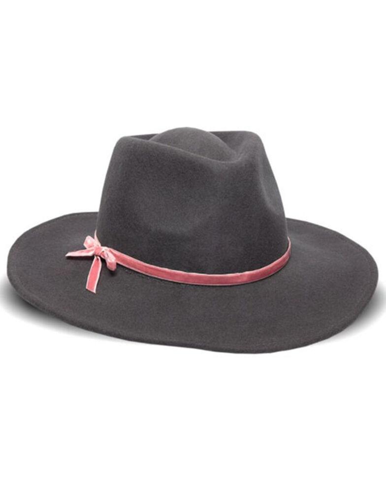 Nikki Beach Women's Riley Velvet Bow Band Wool Felt Western Hat, , hi-res
