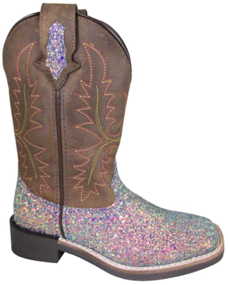 Smoky Mountain Girls' Ariel Western Boots - Square Toe, Pink, hi-res