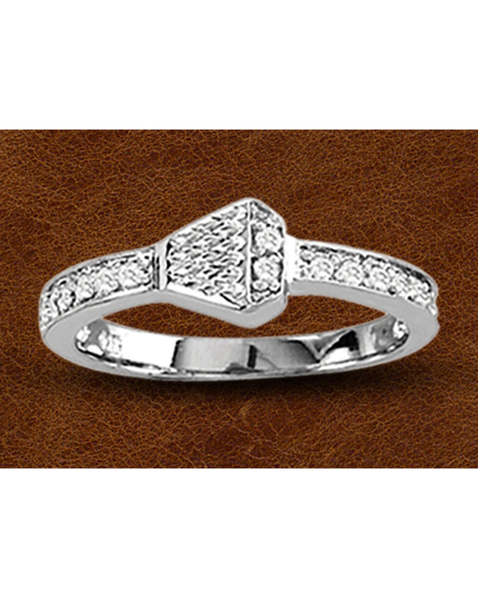 Kelly Herd Sterling Silver Rhinestone Nail Ring, Silver, hi-res