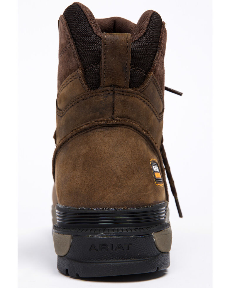 "Ariat Mastergrip 6"" H2O Work Boots - Soft Toe, Brown, hi-res"