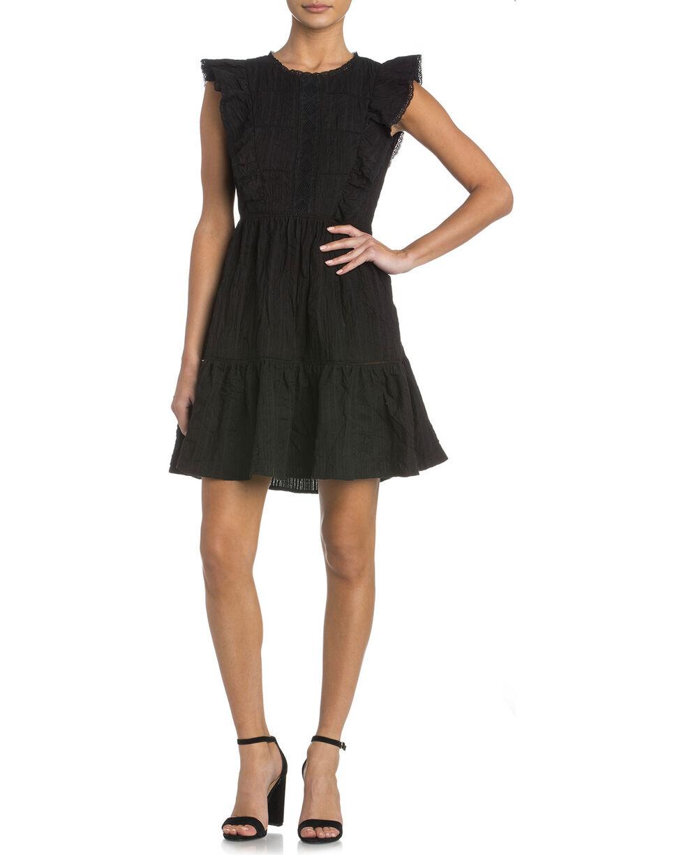 Miss Me Women's Ready To Ruffle Dress , Black, hi-res