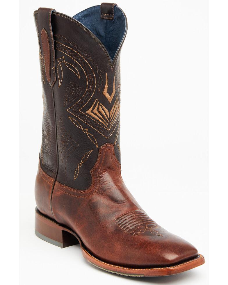 Cody James Men's Honey Black Western Boots - Wide Square Toe, Honey, hi-res