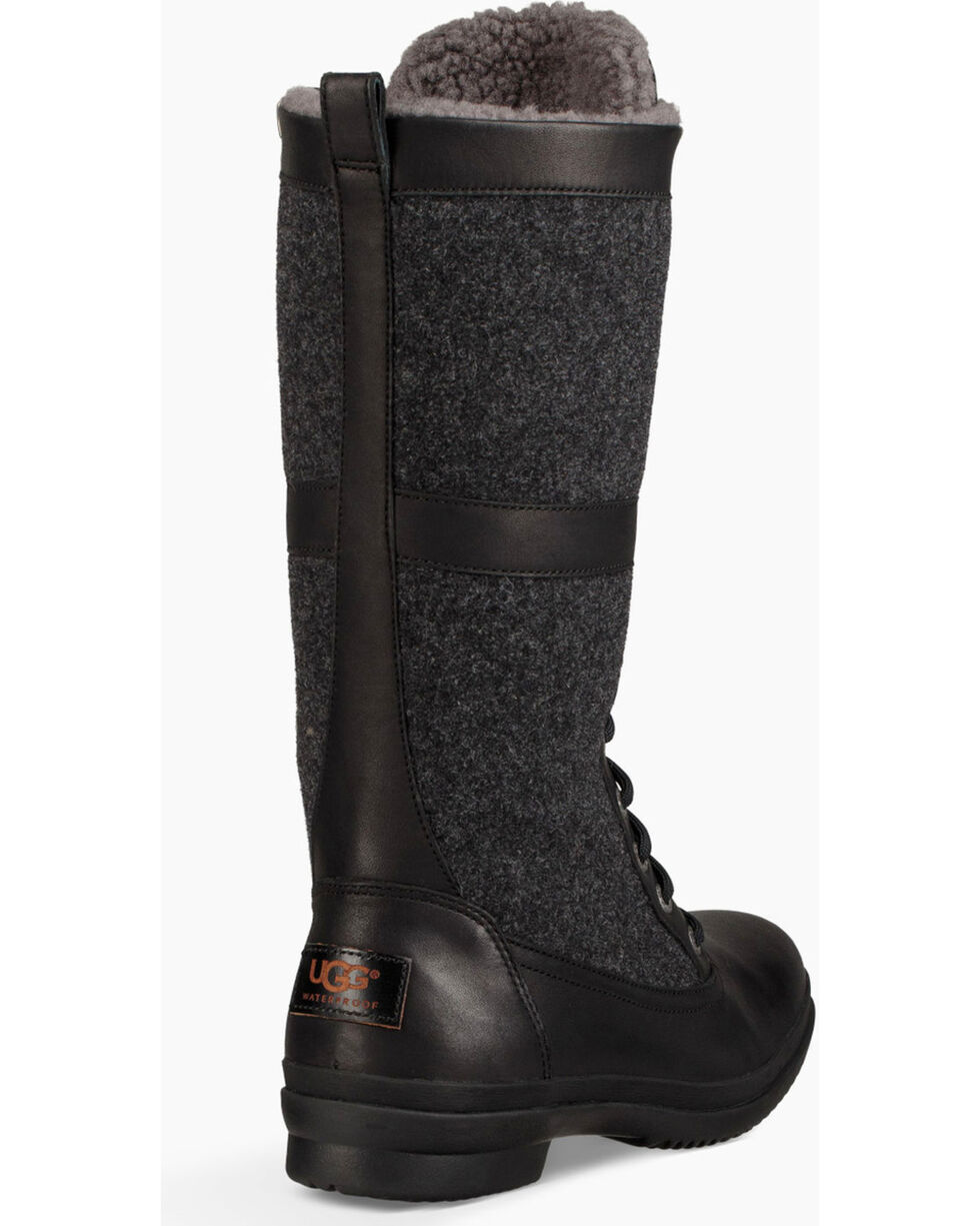 UGG Women's Black Elvia Boots - Round Toe , Black, hi-res