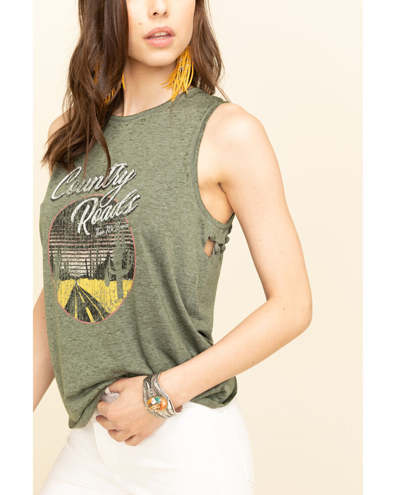 Cut & Paste Women's Country Road Braided Graphic Tank Top, , hi-res