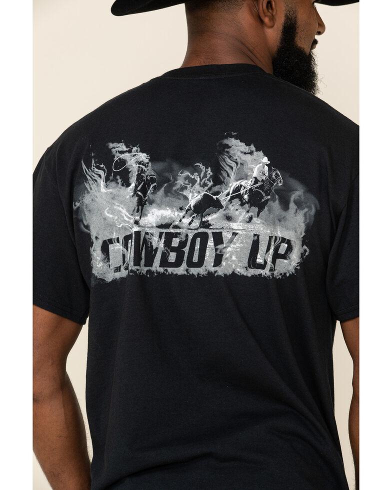 Cowboy Up Men's Team Roper Graphic Tee, Black, hi-res