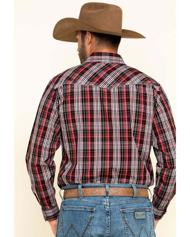 Cowboy Hardware Men's Chili Heeler Plaid Long Sleeve Western Shirt , Chilli, hi-res
