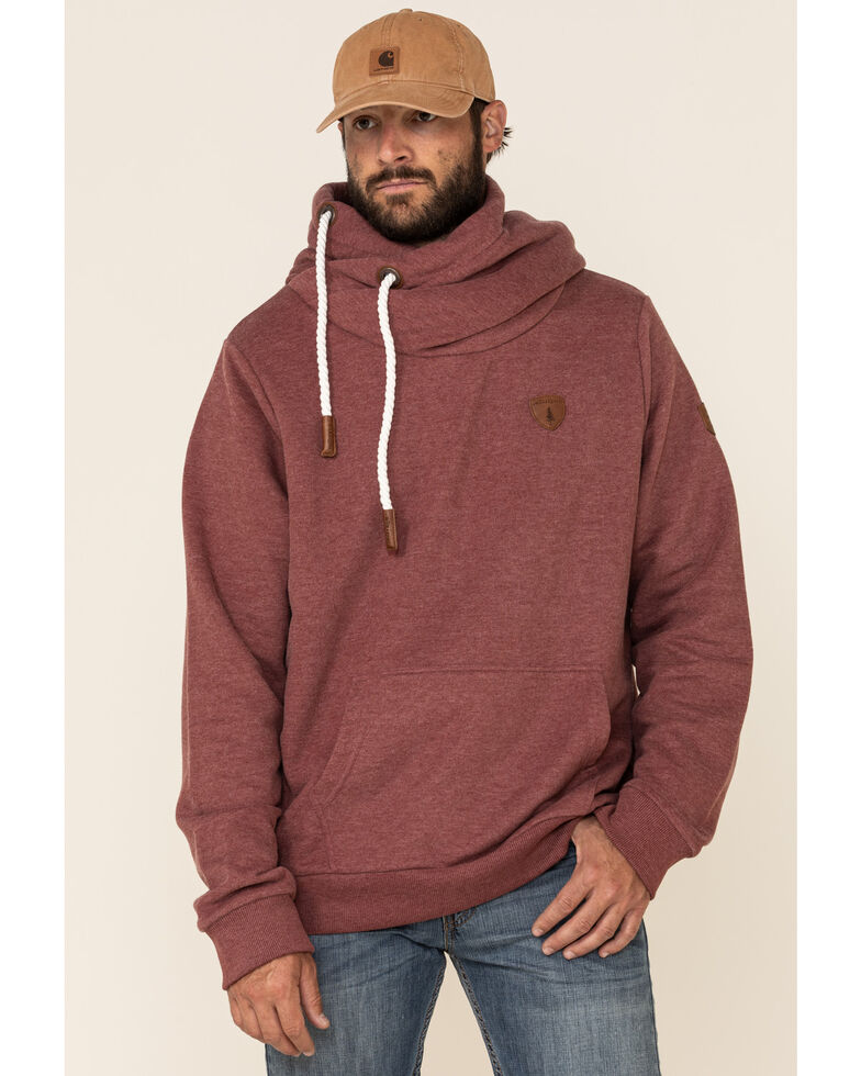 Wanakome Men's Olympus French Terry Hooded Sweatshirt , Brown, hi-res