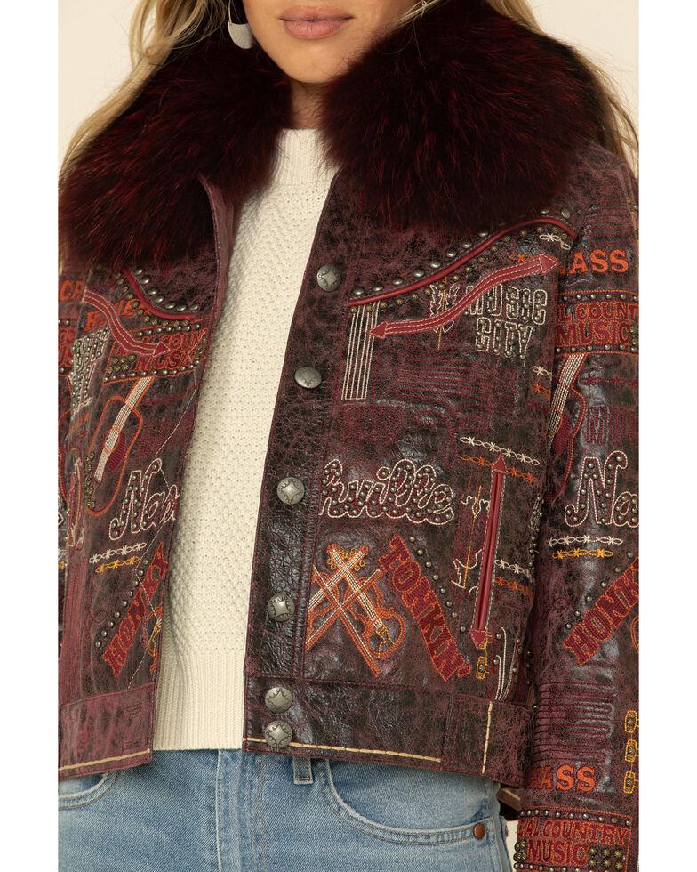 Double D Ranch Women's Music Row Jacket , Burgundy, hi-res