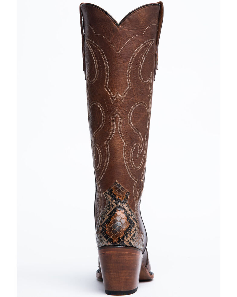 Idyllwind Women's Scaled-Up Western Boots - Snip Toe, Brown, hi-res