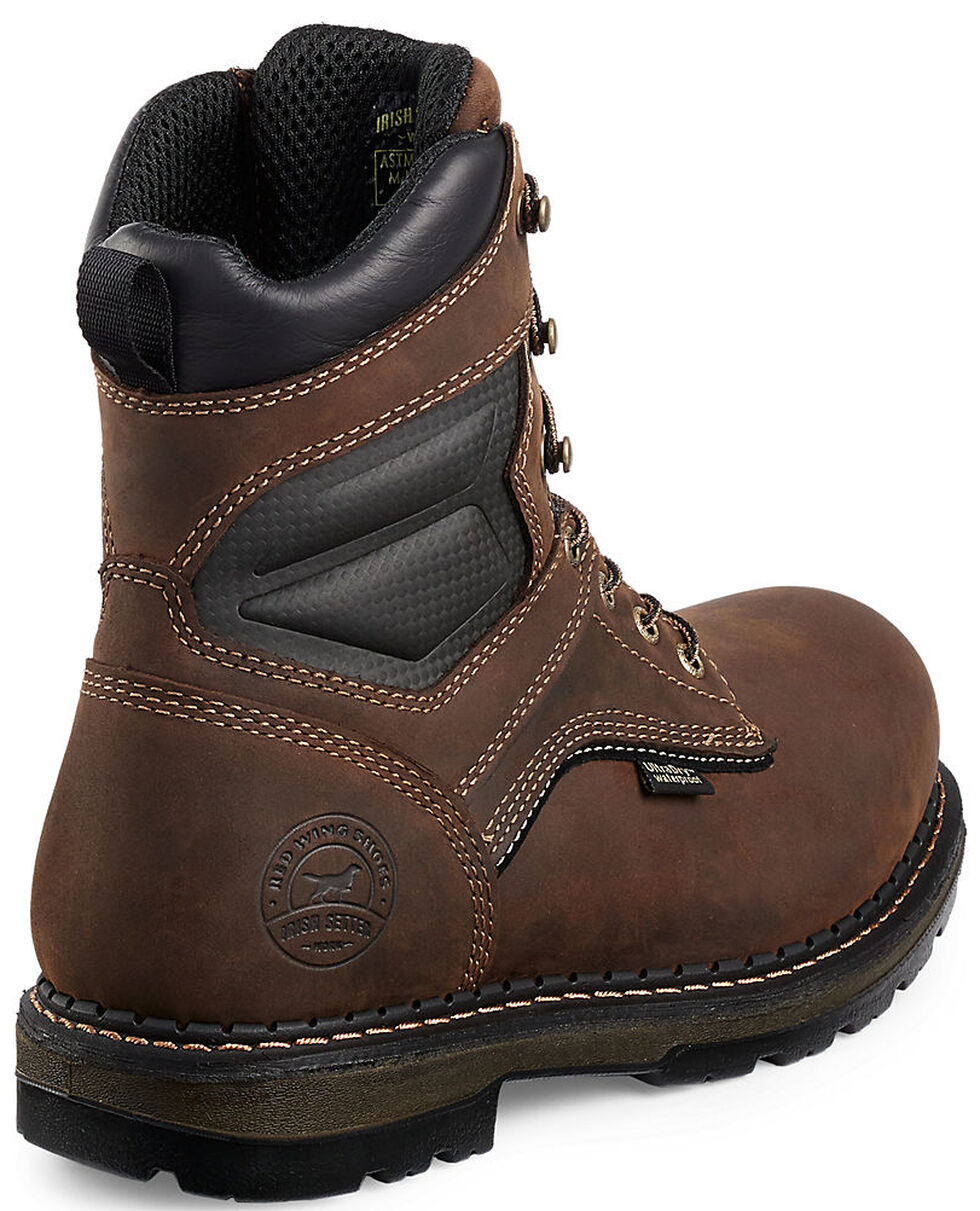 "Irish Setter by Red Wing Shoes Men's Ramsey EH Waterproof 8"" Work Boots -  Soft Round Toe , , hi-res"