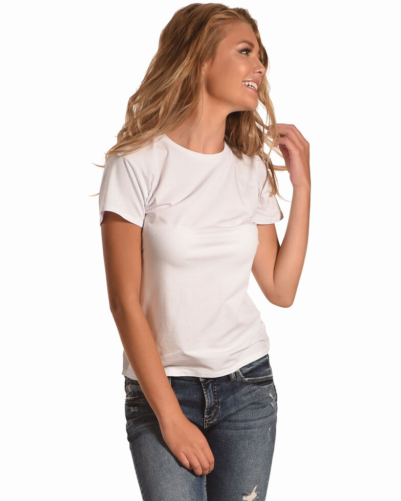 BB Dakota Women's Instagram Famous Tie T-Shirt , White, hi-res