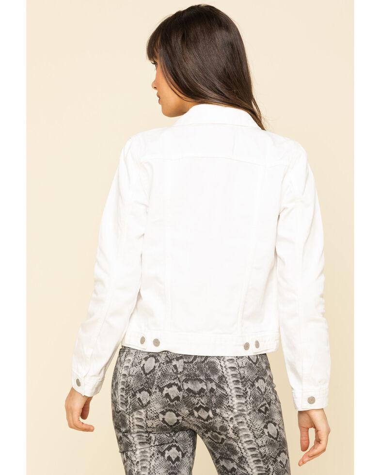 Levi's Women's White Denim Trucker Jacket, White, hi-res