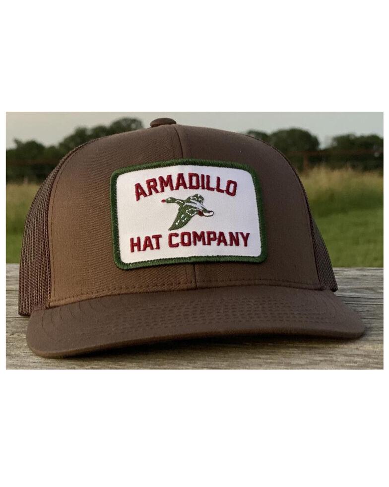 Armadillo Hat Co. Men's Duckapalooza Patch Mesh Ball Cap , Brown, hi-res
