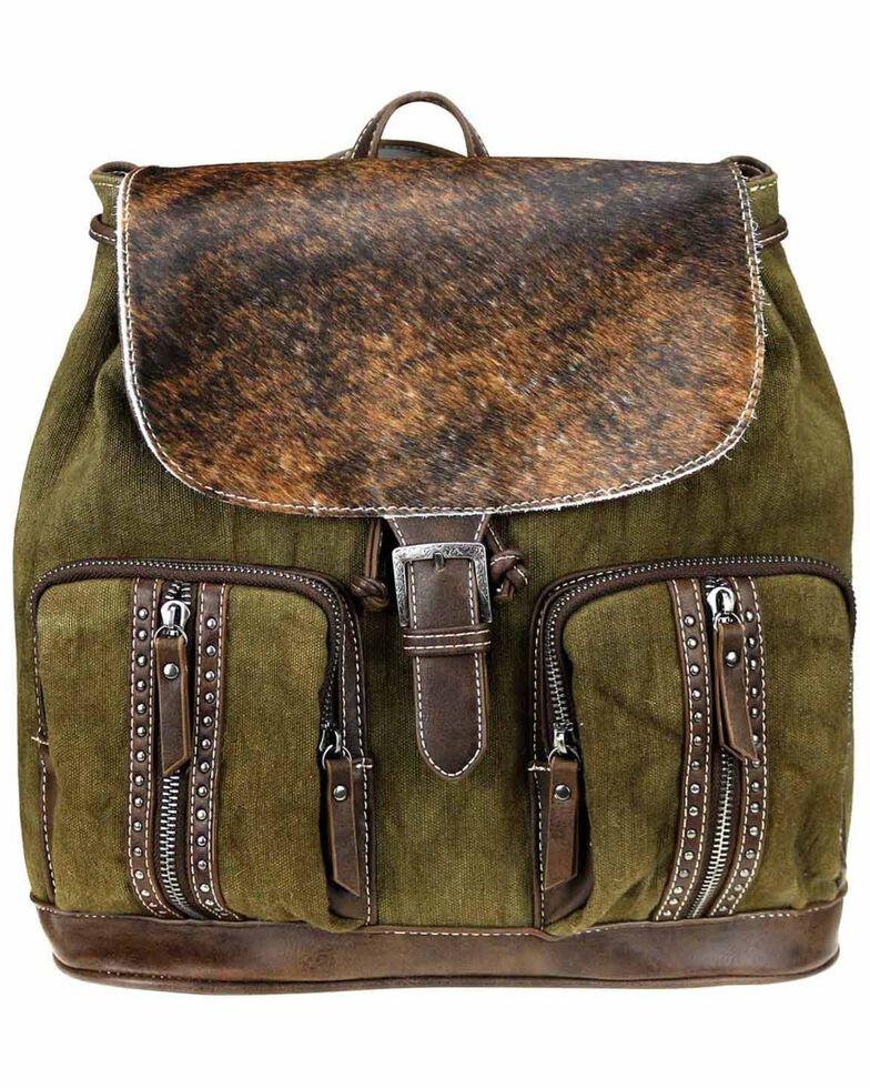 Montana West Women's Cowhide Backpack, Coffee, hi-res
