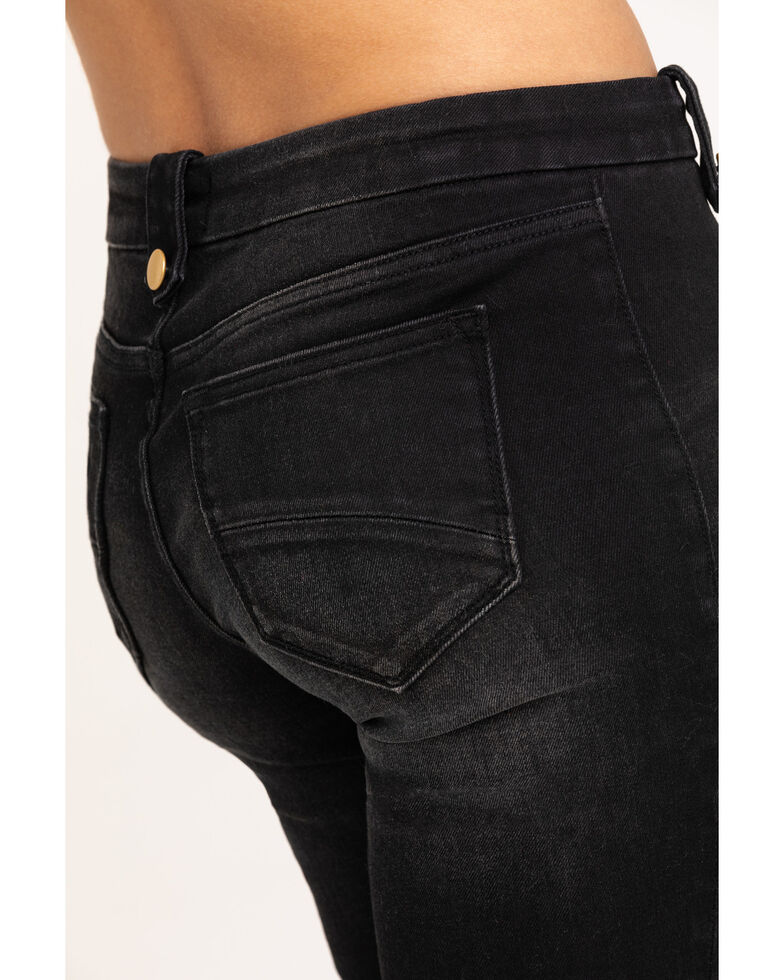 Driftwood Women's Black Tess Button Bell Bottom Jeans , Black, hi-res